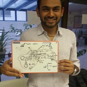 Študent z Indie nakreslil predpoveď počasia