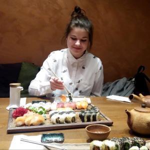 Ochutnávka sushi s lektorkou japončiny